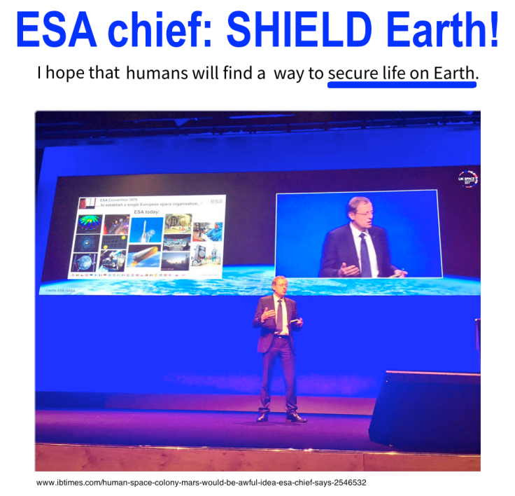 ESA chief SECURE life on Earth 5-2017